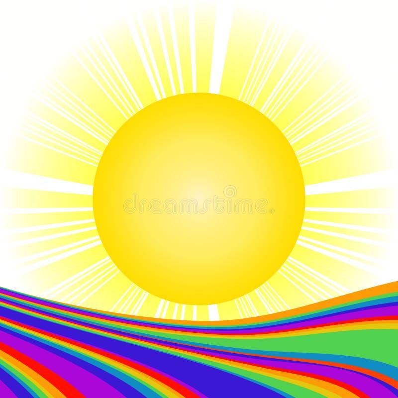 солнце радуги бесплатная иллюстрация