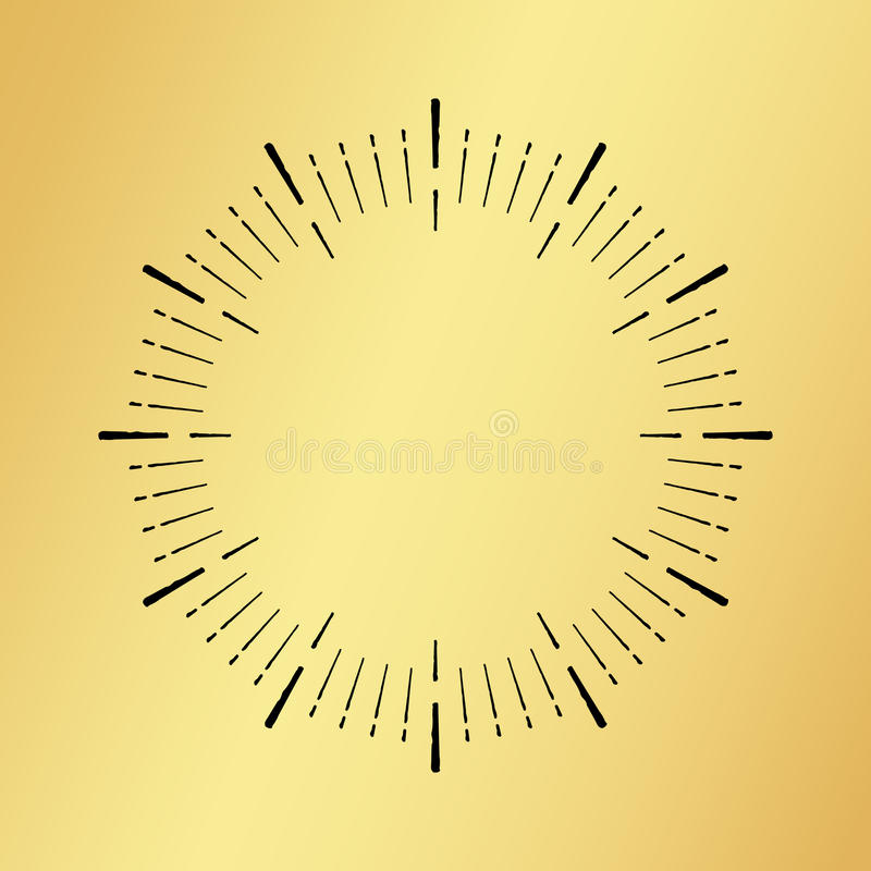 Солнце разрывало винтажный вахту часов на золотой предпосылке бесплатная иллюстрация