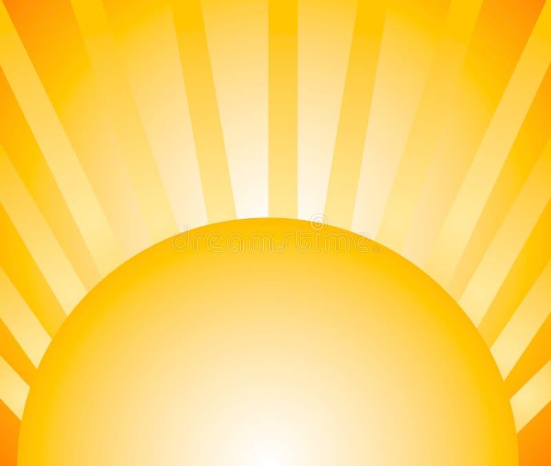 солнце световых лучей предпосылки иллюстрация штока
