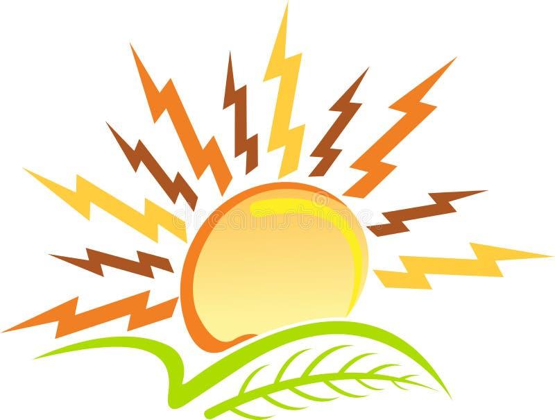солнце силы логоса листьев бесплатная иллюстрация