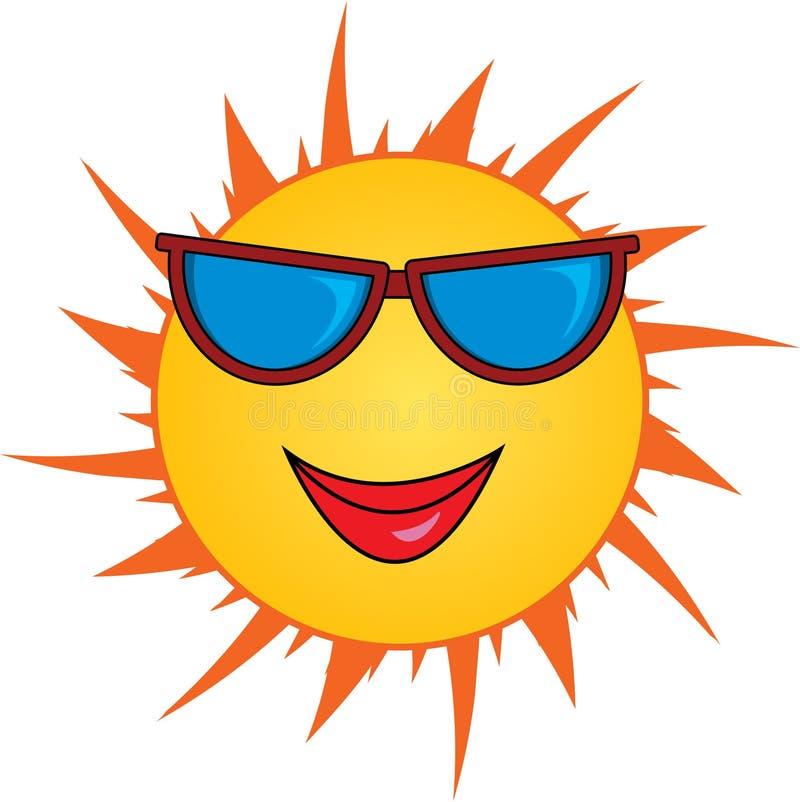 солнце шаржа иллюстрация вектора