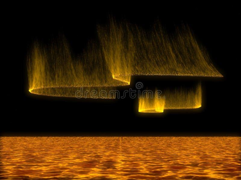 солнце шторма иллюстрация вектора