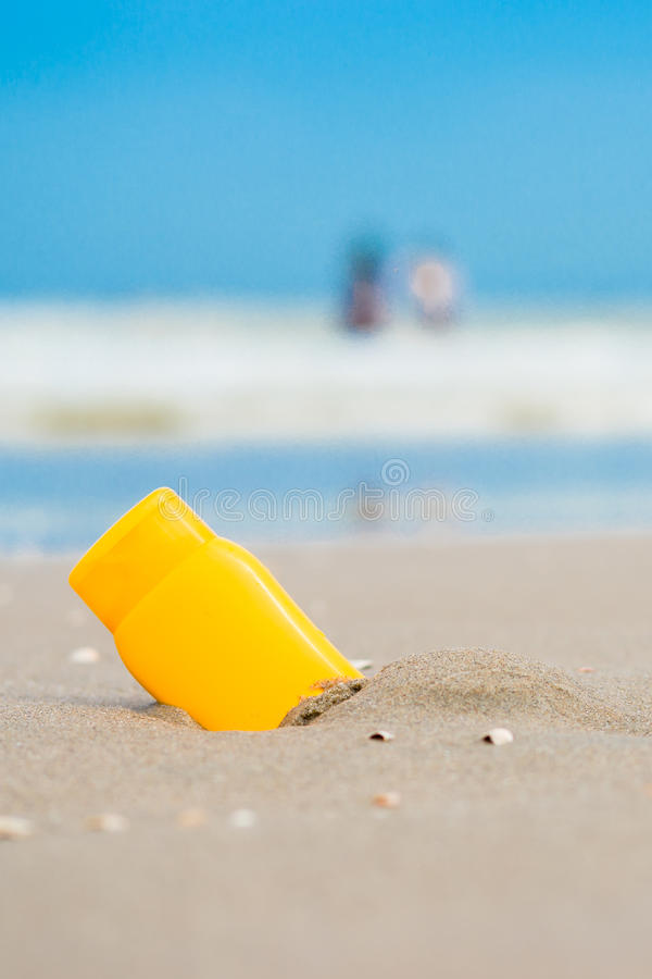 солнце экрана пляжа стоковое изображение