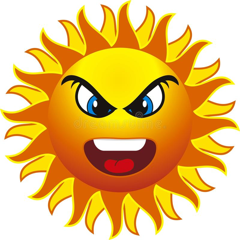 Картинка сердитое солнце