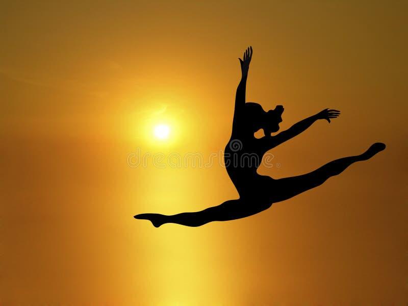 солнце 3 танцек иллюстрация штока