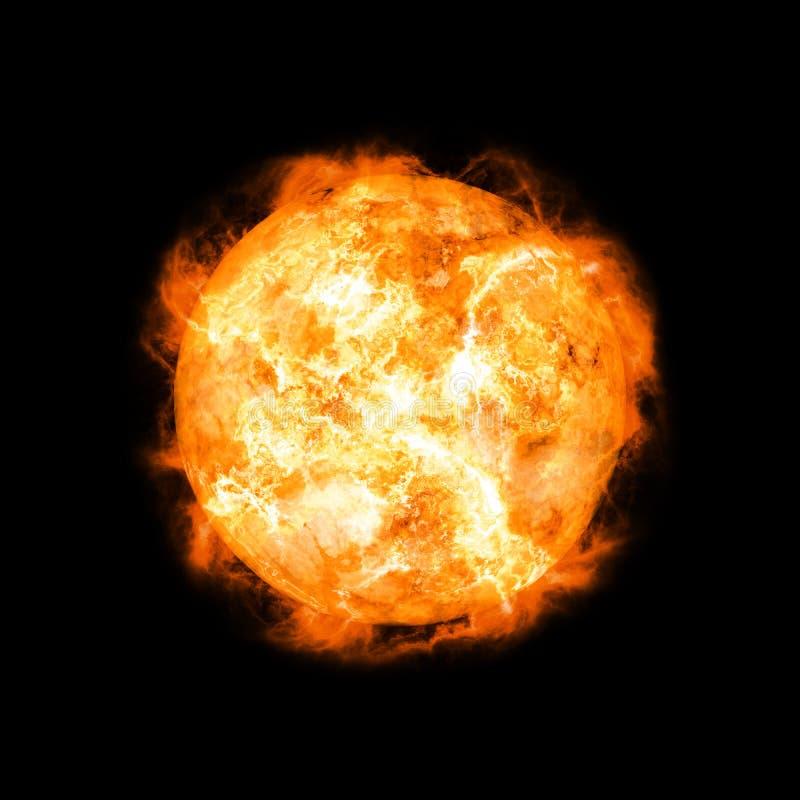 солнце 3d стоковая фотография rf