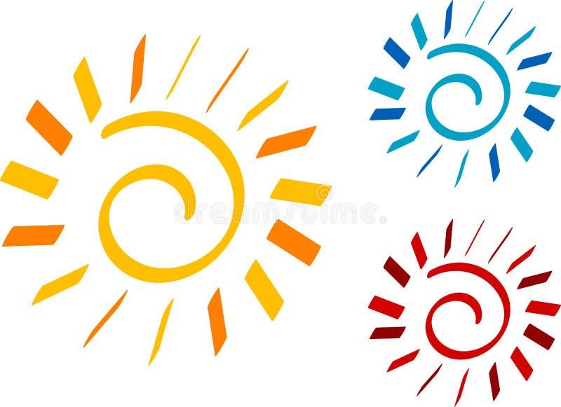 солнце иллюстрация штока