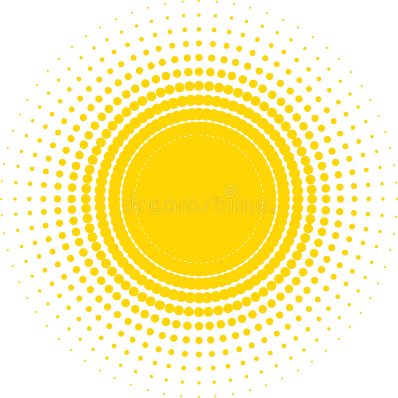 солнце halftone бесплатная иллюстрация