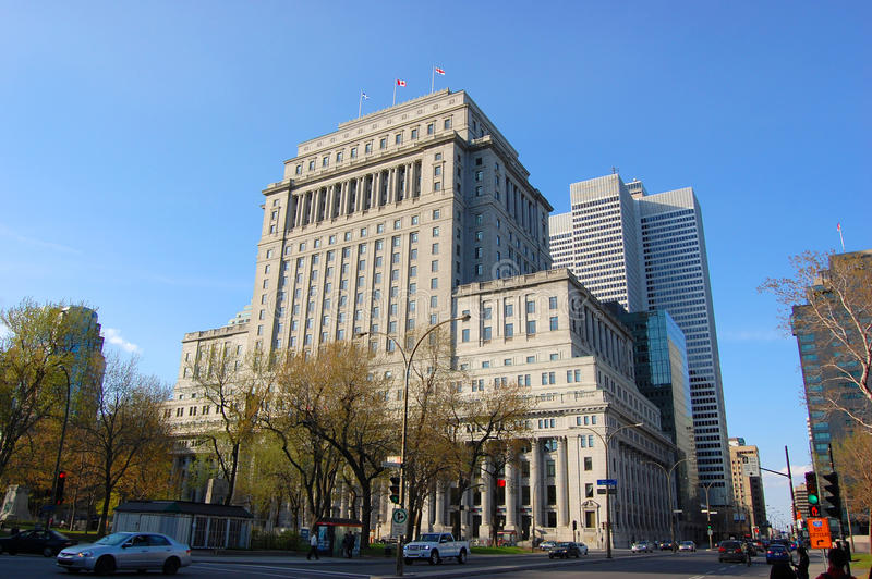 солнце montreal жизни здания стоковые фото