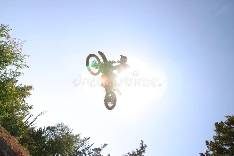 солнце motocross стоковая фотография rf