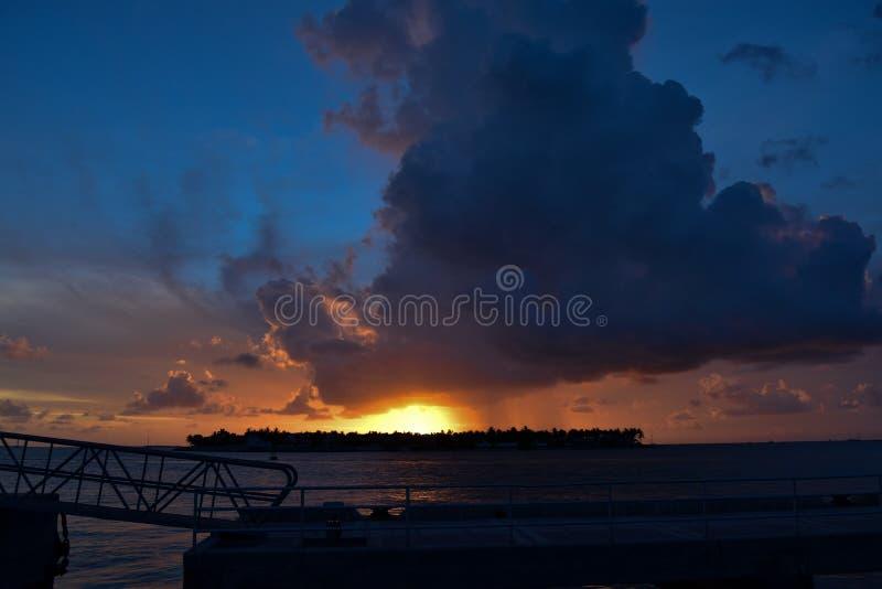 Солнце ` s бога идет вниз в Key West! стоковая фотография rf