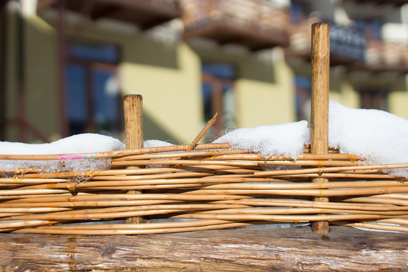Солома загородки handmade стоковое изображение rf