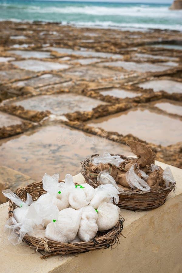 Соль в сумках стоковая фотография rf