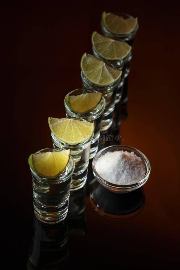 Соль и известка острословия текила стоковая фотография