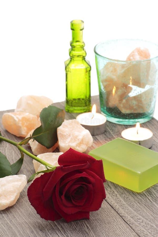 соль красного утеса розовое стоковое фото
