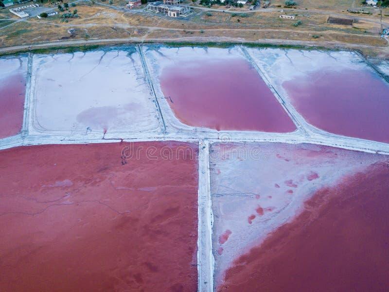 соль озера розовое стоковое изображение