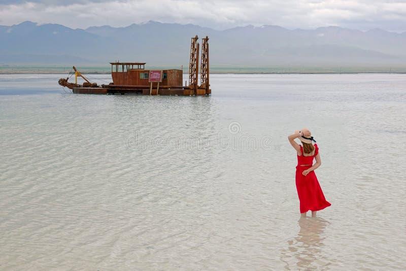 соль озера caka стоковые фото
