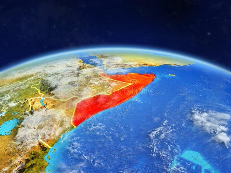 Сомали на земле от космоса стоковое фото