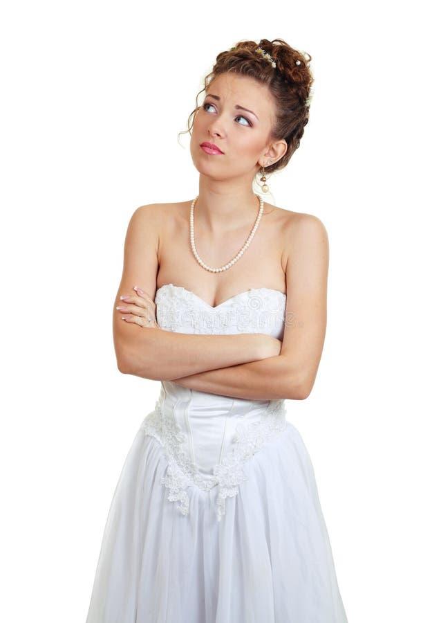 сомневаться невесты стоковое фото rf