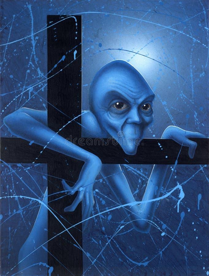 Сомнение голубого гнома бесплатная иллюстрация
