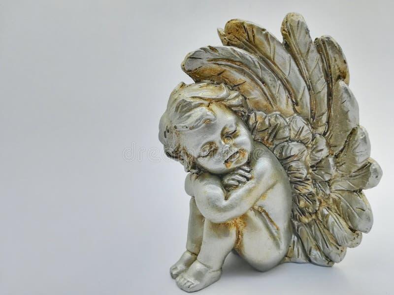 Сонный ангел самостоятельно стоковые изображения