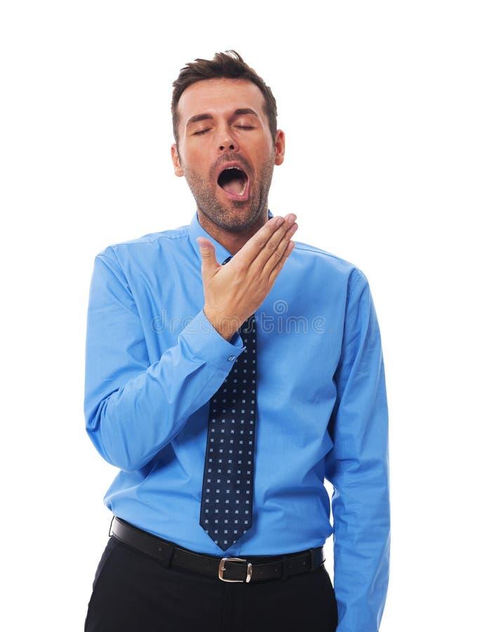 Download Сонный бизнесмен стоковое фото. изображение насчитывающей закрыто - 33725402