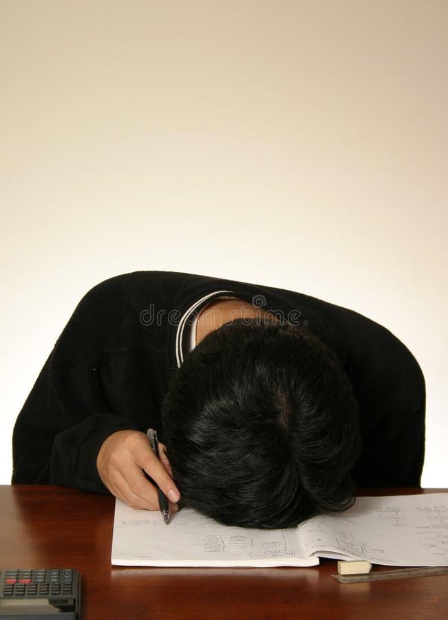 сонный студент стоковое изображение