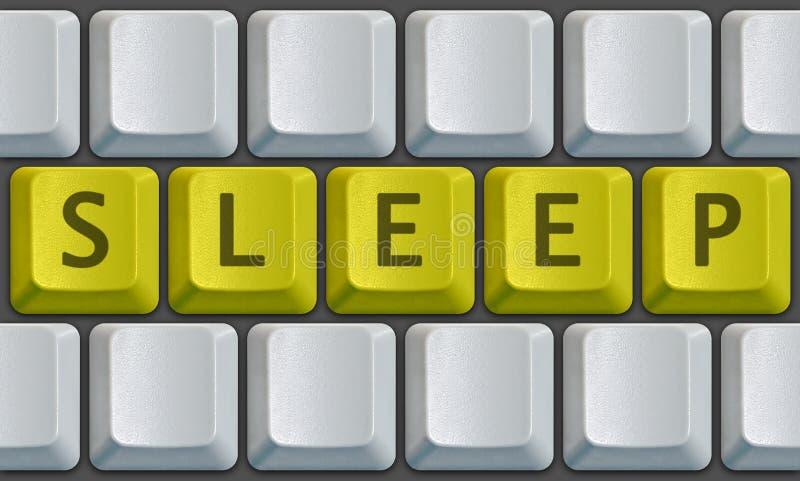 сон клавиатуры стоковая фотография rf
