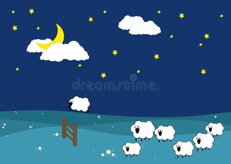 сон туго иллюстрация штока