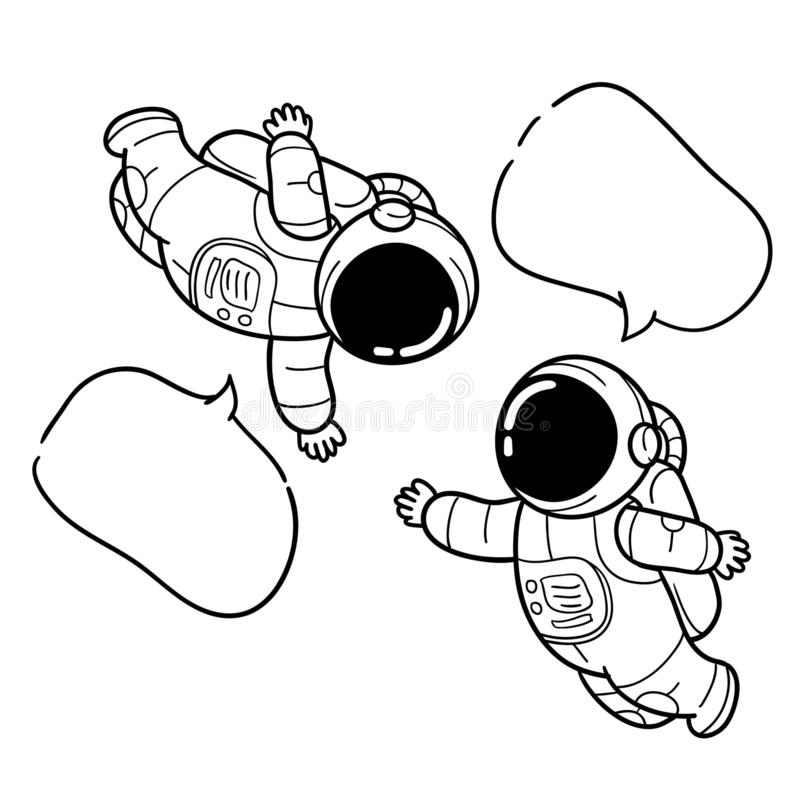 Сообщение астронавта руки вычерченное иллюстрация штока