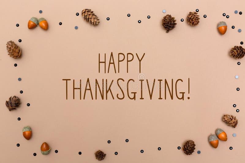 Сообщение благодарения с темой осени стоковое фото rf