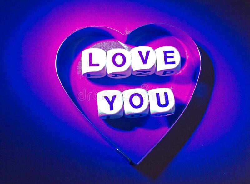 сообщение влюбленности вы стоковое фото