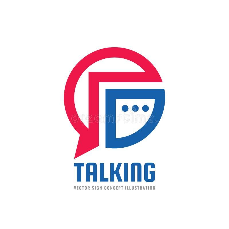Сообщение - иллюстрация концепции шаблона логотипа вектора Говоря знак болтовни творческий Символ социальных средств массовой инф иллюстрация вектора