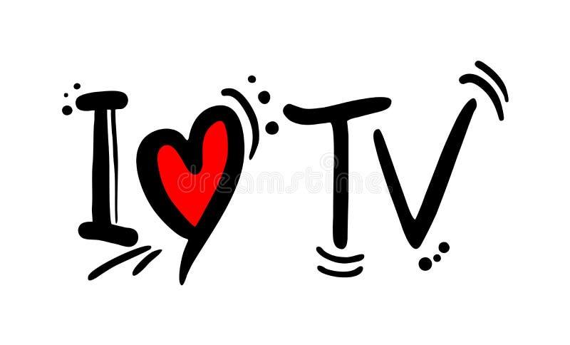 Сообщение любов ТВ иллюстрация вектора