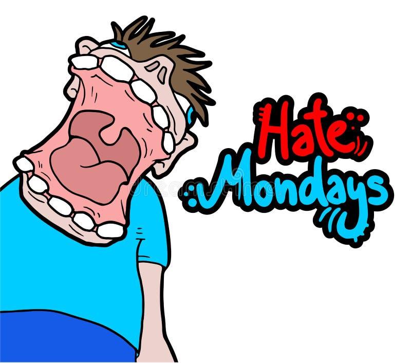Сообщение понедельников ненависти иллюстрация вектора