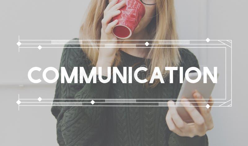 Сообщение связывает концепция переговора обсуждения стоковое фото rf