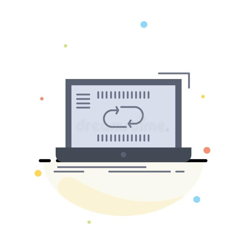 Сообщение, соединение, связь, синхронизация, вектор значка цвета синхронизации плоский иллюстрация штока