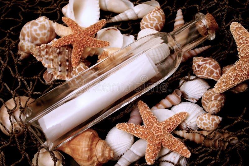 сообщение 4 бутылок стоковое изображение rf