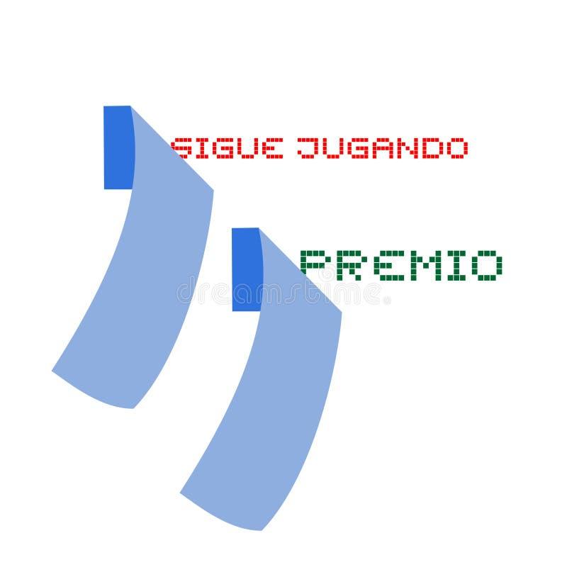 Сообщения пробовать и отношения Keep в испанском языке бесплатная иллюстрация