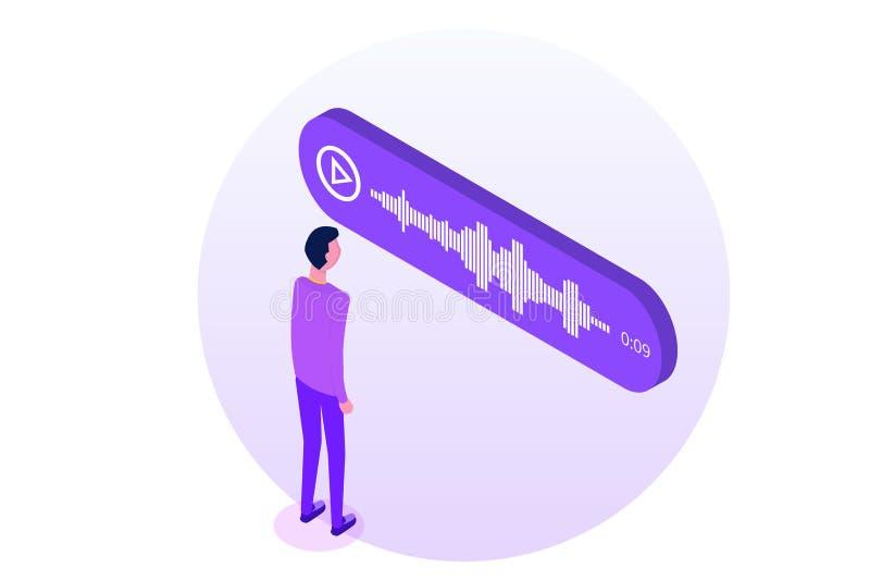 Сообщения равновеликие, уведомление голоса события бесплатная иллюстрация