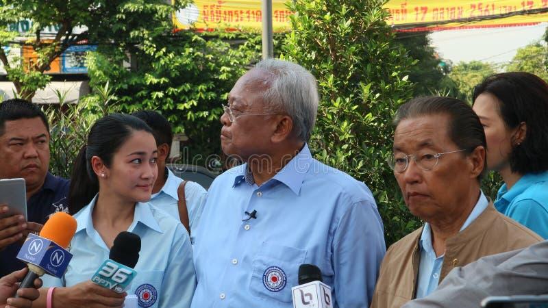 Сооснователь Suthep Thaugsuban коалиции действия для партии Таиланда стоковые фотографии rf