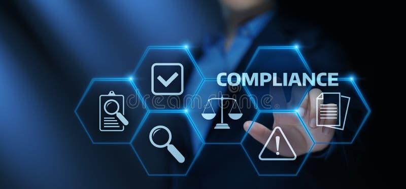 Соответствие управляет концепцией технологии дела политики закона регулированной иллюстрация вектора