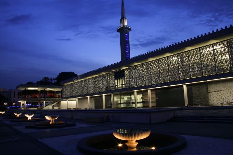 соотечественник мечети Куала Лумпур стоковая фотография