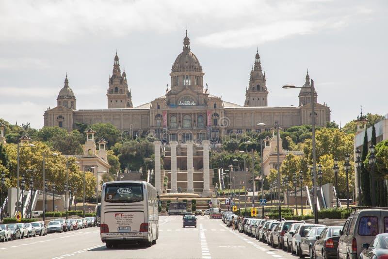 соотечественник музея barcelona стоковое изображение