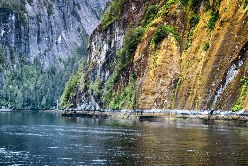 соотечественник памятника фьордов Аляски туманный стоковая фотография rf