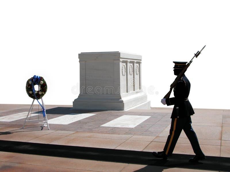 соотечественник предохранителя кладбища arlington изменяя стоковая фотография rf