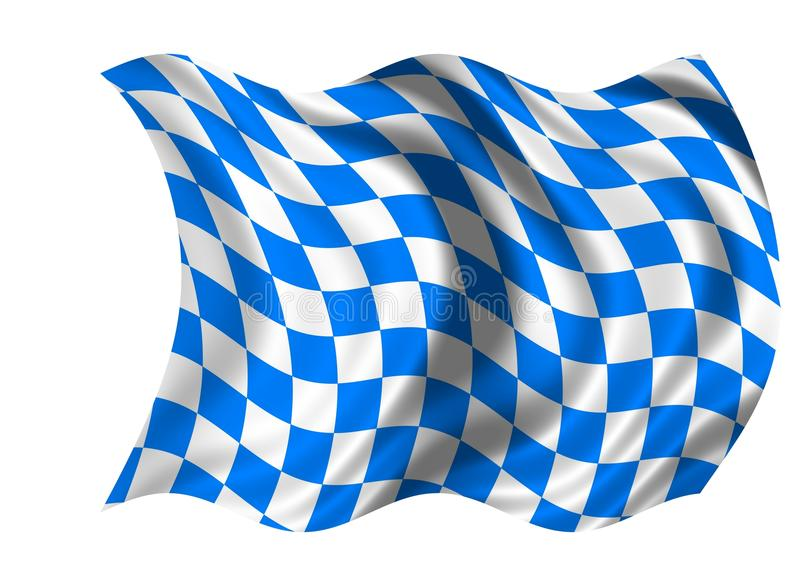 соотечественник флага Баварии иллюстрация штока