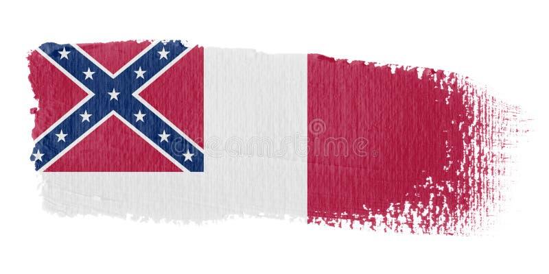 соотечественник флага confederate brushstroke иллюстрация вектора