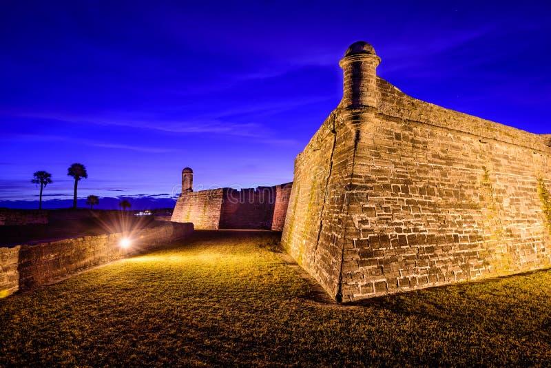 соотечественник san памятника castillo de marcos стоковое изображение rf