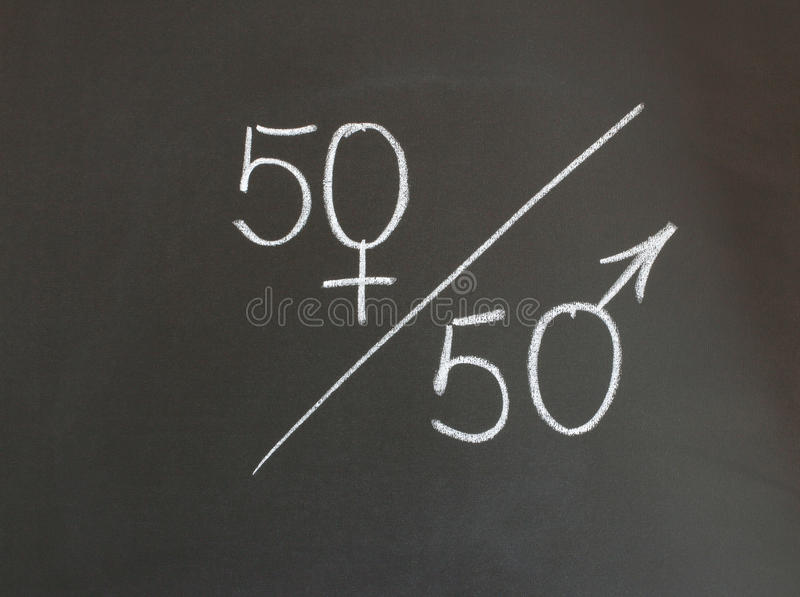 Соотношение полов стоковая фотография rf